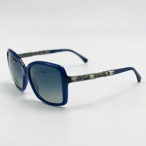 New Blue Polarized Bijou CHANEL Sunglasses 5308-B